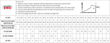 Zamberlan Size Guide