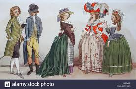 La Designs Costumes Fashion Clothes In France Late Rococo Costumes From Left