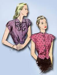 Simplicity Blouse Patterns Gorgeous 48s Vintage Misses WWII Blouse Uncut 48 Simplicity Sewing