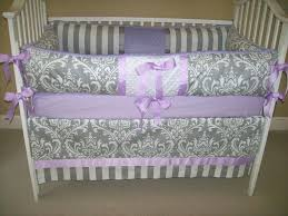 purple baby bedding set bedroom cool gray and purple crib bedding set with traditional motif purple