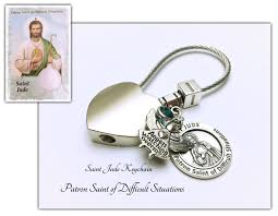 saint jude keychian stainless steel wire st jude medal