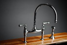 Rohl Kitchen Faucets Reviews Water Creation 2 Handle Bridge Kitchen Faucet With Side Sprayer In
