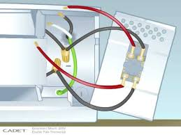 wiring a single pole baseboard heater wiring diagram thermostat wiring options for 5000w 240vac heater the garage