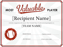 mvp award certificates free most valuable player award certificate dotx 3298kb 1 page s