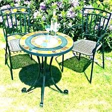 small outdoor table set small bistro patio set with umbrella antique bronze 3 piece cast aluminum small outdoor table