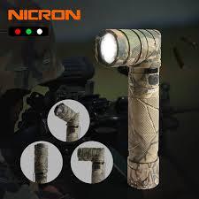 NICRON 3 Màu Ánh Sáng 90 Độ Camo Sạc Vặn Đèn Pin Với 360 Quay Clip 18650  Chống Nước 1200LM Đèn Pin LED b70Plus|LED Flashlights