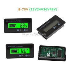 12V 24V 36V 48V New LCD Acid Lead Lithium <b>Battery Capacity</b> ...