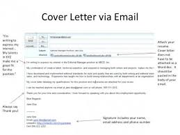 Cover Letter To Send With Resume Bunch Ideas Of Email Cover Letter