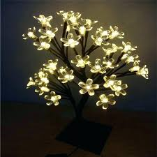 indoor lighted tree led lamp mini crystal lamps cherry blossom night lights outdoor palm b