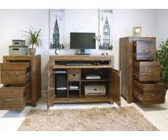 hidden home office furniture. Baumhaus Furniture Mayan   Walnut Hidden Home Office Desk  Furnituredirectuk.net Hidden Home Office Furniture