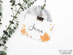 Fall Place Cards Free Fall Printables Place Cards And Cake Toppers Kelly