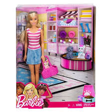 barbie doll with pets pink