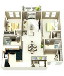 simple house plan with 2 bedrooms 3d dayri me
