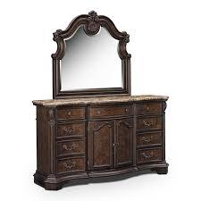$1,199.99 Monticello Dresser And Mirror   Pecan
