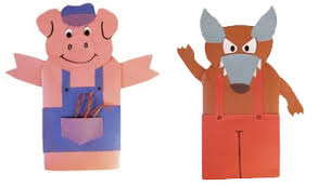 the three little pigs puppets and craft with patterns