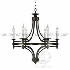 matte black iron metal pendants lamp with 6 led light bulb sl2197 6h