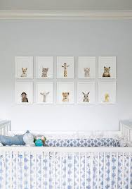 baby animal nursery wall art