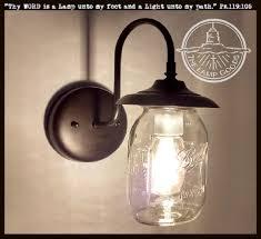 ball jar lighting. Mason Jar EXTERIOR Porch Wall SCONCE Light Ball Lighting A