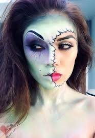 zombie makeup love the green size it when people do half ed faces with no paint
