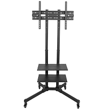 tv cart on wheels. TC01B TV Cart For LCD LED Plasma Flat Panels Stand With Wheels Mobile Fits 37\u2033 To 70\u2033 Tv On