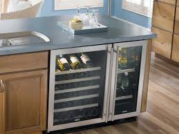 Fascinating Kitchen Island With Wine Fridge And Built In Coolers Trends  Images Appliances Bright Led Lighting Undercounter Refrigerator Stainless  Steel Door ...
