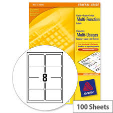 avery sheet labels avery 3427 multi function labels 8 per sheet white 800 labels