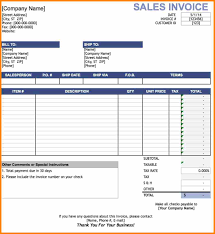 Excel Sales Invoice Template 10 Invoice Format Excel Bill Invoice