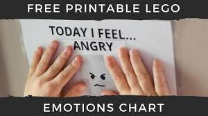 Lego Today I Feel Emotions Chart For Kids