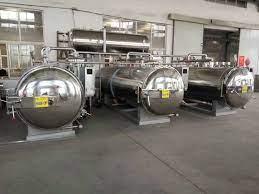 Máy tiệt trùng thực phẩm công nghiệp Nồi hấp nước nhiệt độ cao Điện áp tùy  chỉnh