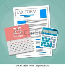 Time And Pay Calculator Time For Pay Taxes Concept