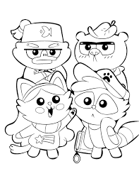 Gravity Falls Cute Animals Coloring Page Disney Lol
