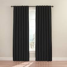 Amazon.com: Eclipse 11353052X084BK Fresno 52-Inch by 84-Inch Blackout  Single Window Curtain Panel, Black: Home & Kitchen