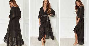 Black Plunge Maxi Dress By Bella And Blue In 2019 Me