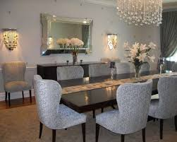 modern dining room table centerpieces. Dining Room : Wonderful Glass Table Centerpieces With Rectangle Modern And Grey Laminated Chair Added Fame Wall Mirror