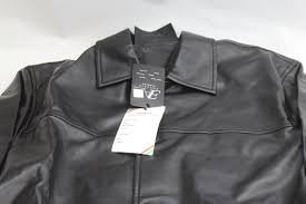 emporio armani fashion at087 leather jacket