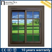 energy saving single glass aluminium windows with mosquito net in