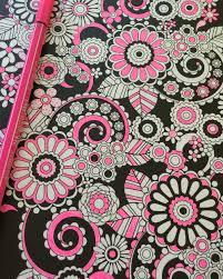 flower designs coloring book volume 1 black background edition