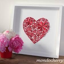 view in gallery 3d paper flower heart wonderfuldiy3 on 3d paper heart wall art with delightful diy paper flower wall art free guide and templates