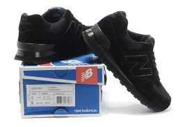 new balance hommes. new balance 574 classic all black men running shoes #56420 hommes