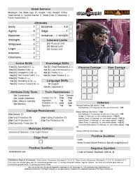 shadowrun 5 character sheet may 2014 newsletter 1