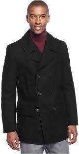 lauren ralph lauren luke solid wool blend peacoat 350 macy s lookastic com
