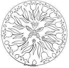 Coloriage Mandala Fleur Et Papillon L L Duilawyerlosangeles