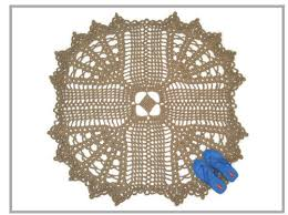 flower and star shaped jute rug