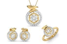 aditri daily wear diamond pendant set