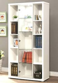 bookcase with glass doors ikea door white living room bookshelves bookcases modern billy black brown
