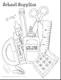 School Coloring Pictures School Supplies Coloring Pages Incredible