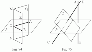 intersecting planes. aob in its intersection with the half-planes q and r. angle is called a linear of dihedral angle. measure intersecting planes