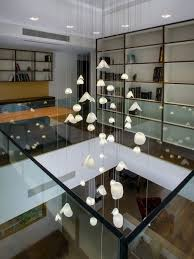 extra long modern pendant lighting for high ceiling foyer pearl shell by galile ceiling