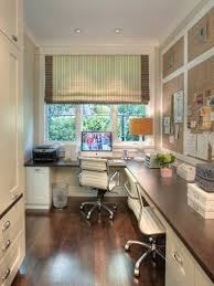home office layout. Home Office For Two Layout Idea, Via Design Art House. Efficient Use Of Narrow I