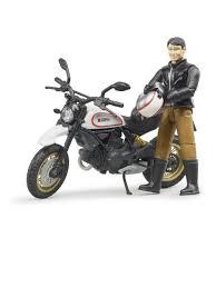 <b>Мотоцикл Bruder Scrambler Ducati</b> Desert Sled, с фигуркой ...